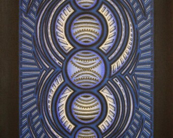 Modern canvas: Blue Cycle.