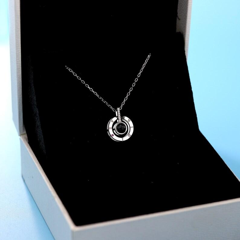 baa0ec56839 Unique et personnalisé 925 collier en argent Sterling Photo
