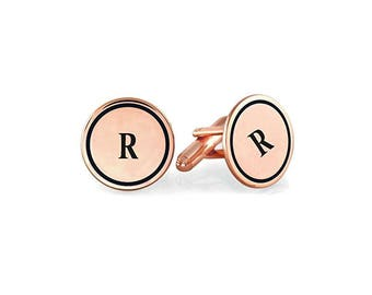 Personalized 925 Sterling Silver Charming Men Cufflink Custom Made with Any Initials