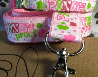 St Patrick's day Pinch Proof leash and collar set