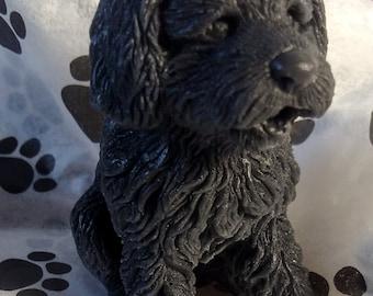 3D poodle novelty goat milk soap