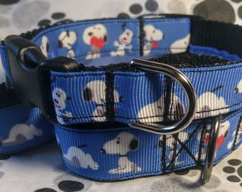 Snoopy leash and collar set