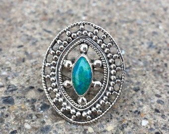 Vintage Chrysocolla Silver Ring