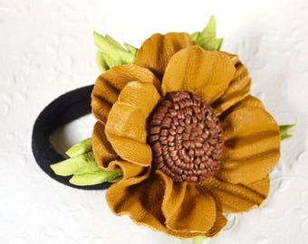 brown yellow flower jewelry elegant jewelry colorful jewelry thank you gifts teens jewelry botanical elegant wedding gift ideas for women