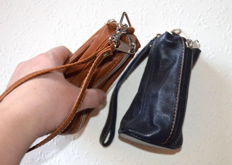 Leather key bag Leather key holder Pocket wallet Key pouch Christmas present for husband gift for him Leather gift for her gift for women