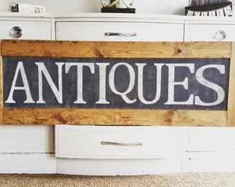Antique wood sign, rustic home decor, rustic wood decor, wood frame, farmhouse decor, wood sign, antiques home decor, farmhouse wood sign