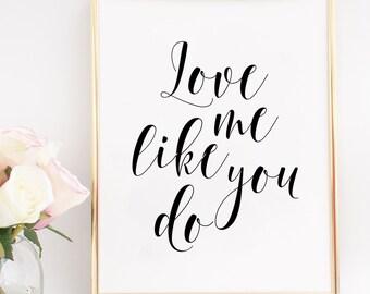 Love Me Like You Do Etsy