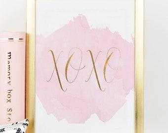 XOXO WALL DECOR, Xo Print,Xo Sign,Gossip Girl Quote,Gossip Girl Print,Girls Room Decor,Girly,Gift For Her,Kiss Print,More Kisses And Hugs