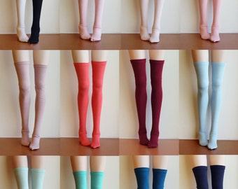 BJD Doll clothes ,SD MSD Minifee socks, Thigh-high stockings long socks , 13 colors