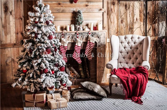 Christmas Fire Place Images.Newborn Christmas Fireplace Christmas Tree Digital Download With Props Backdrop Baby Kids Christmas Presents Digital Background Stocking