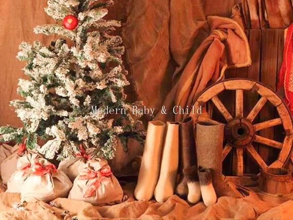 Country Christmas Background.Newborn Country Christmas Red White Boots Wagon Wheel Presents Christmas Tree Digital Download Prop Backdrop Christmas Digital Background