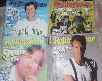 4 vintage rolling stone magazines 1985  invertive with steven spielberg and more1