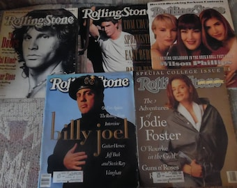5 vintage rolling stone magazines 1990's great set! interviews with tom cruise and more!