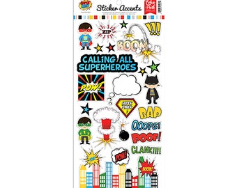Echo Park Superhero Collection - Cardstock Stickers