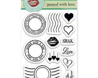 Penny Black Posted with Love Acrylic Stamp