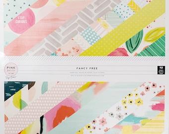 "Pink Paislee 12""x12"" Fancy Free Paper Pad"