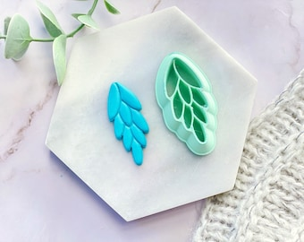 Cascading Leaf Polymer Clay  Cutter   Fondant Cutter   Cookie Cutter