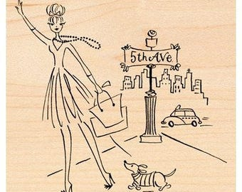 Penny Black 5th Avenue Rubber Stamp