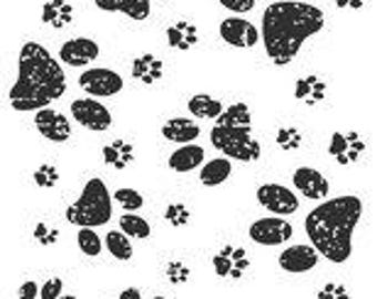 Kaisercraft Furry Friends Dog Texture Clear Acrylic Stamp