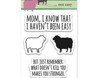 Penny Black Not Easy Acrylic Stamp