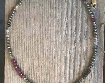 Elephant gemstone necklace