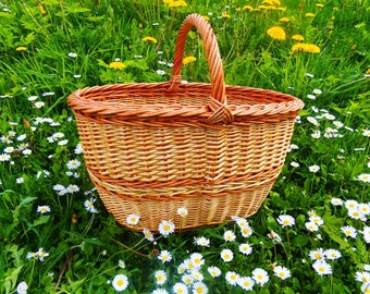 France Basket, France Market Basket, Wicker Bag, Wicker Purse, Market Basket, Wicker Basket, Willow Basket, Shop Basket, Wicker Handbag