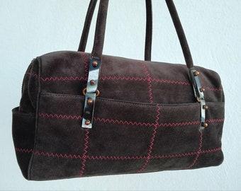 BAG EMANUEL UNGARO brown suede leather