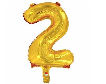 DS001 14 Goil Foil Air Filled Balloon Birthday Number Six 6