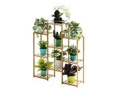 Multi-Tier Bamboo Plant Shelf, 32.7x39.4x9.8in