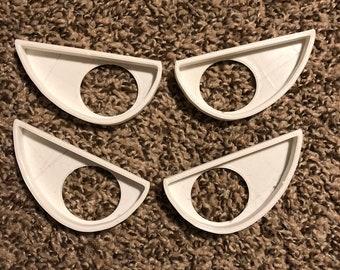Furry Fursuit Furry Eye Blanks Fursuit Blanks White MISPRINT Grump Fursuit Eyes