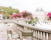 Paris Photography, Jardin du Luxembourg, Large Wall Art, Fine Art Photography, Paris Decor, Print, France, European, Travel