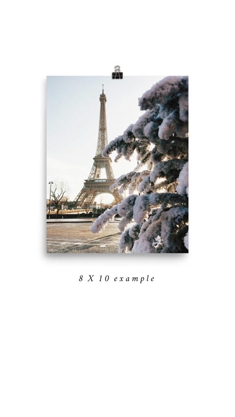 Paris Photography Fine Art Photography Winter Snow La Tour Etsy