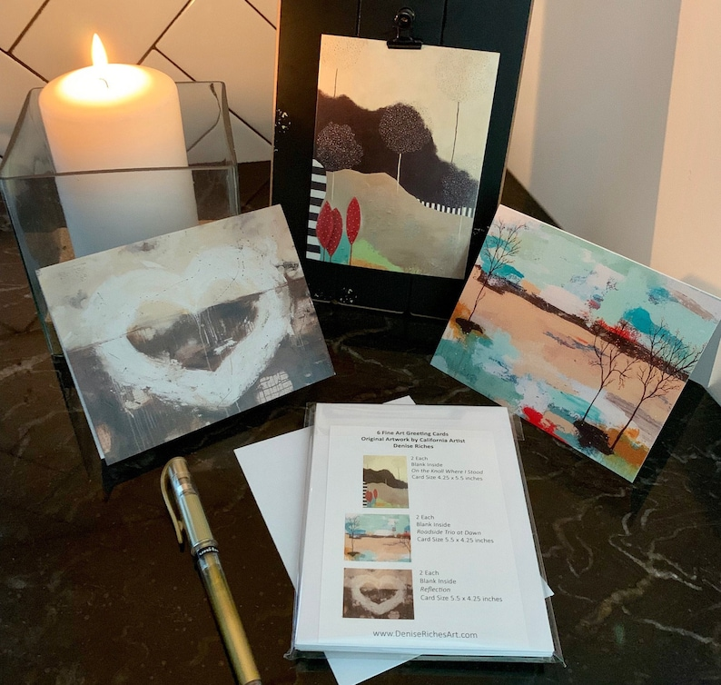 Fine Art Greeting Card Set of 6 Blank Note Cards Art Cards image 0