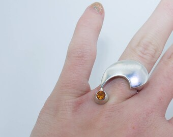 COMMA CITRINE RING