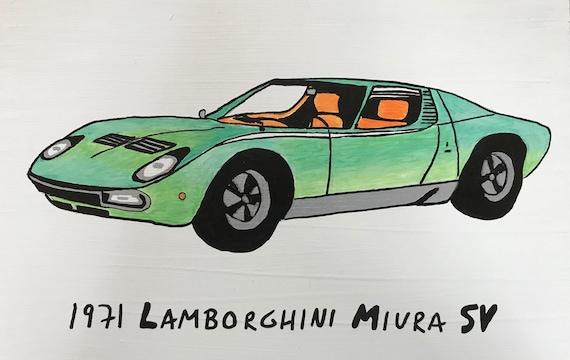 1971 Lamborghini Miura Sv Etsy