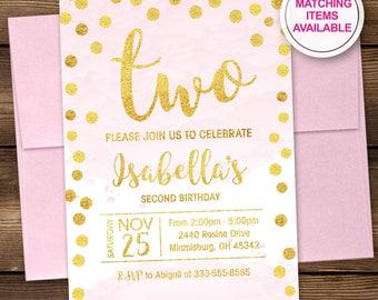tea for two birthday invitation girl second birthday etsy