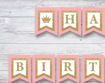 Birthday banner, First birthday banner, bday garland bunting, Birthday decoration, birthday party sign, birthday poster, birthday invitation