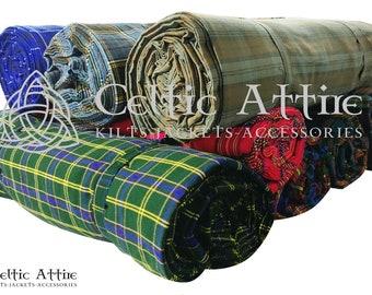 Medium Weight Acrylic Tartan Fabric Running Yards (54 Inches Width) Please Contact For Custom Tartan Weaving