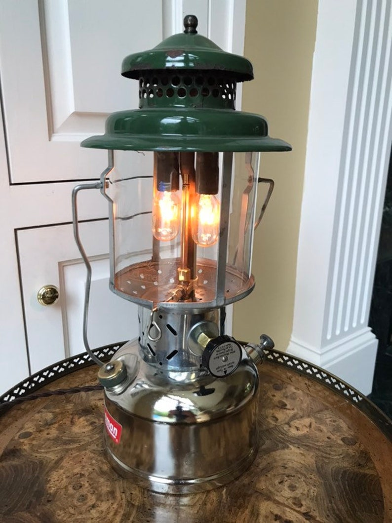 Cabin Electric For OutdoorsmanLog DimmerGreat Lantern Coleman Table LampLed Vintage BulbsRotary Gift Rustic Lighted 51cuKJFTl3