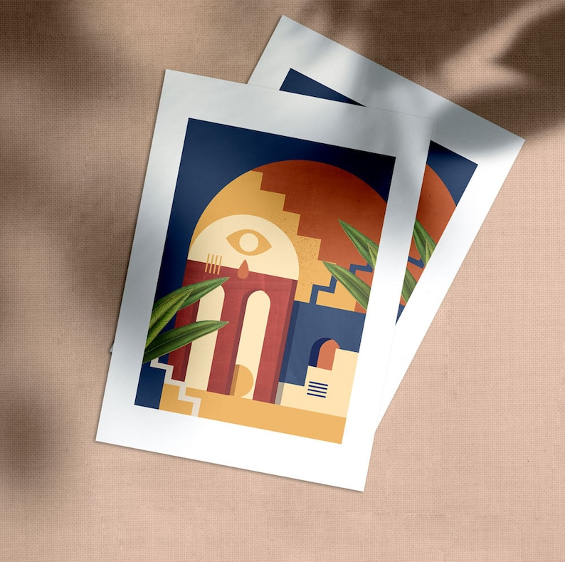 Poster ARCHE 1 Format A4/A3 Limited Edition Graphic Printing image 0