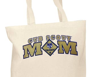 Golden Sparkle Cub Scout Mom Tote Bag | Scout Mom Gift | Tote Bag for Den Mother | Gift for Cub Scout Mom| Scout Mom Tote Bag