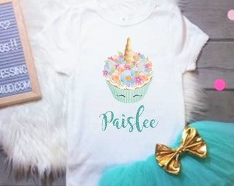 Unicorn Cupcake Birthday Cupcake Birthday Cupcake Birthday Outfit Unicorn Birthday Outfit Personalized Cupcake Birthday Personalized