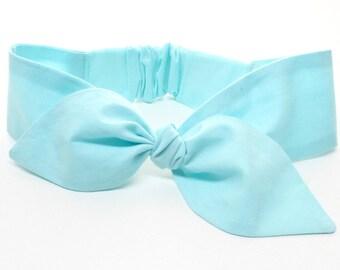 Soft Mint Baby headband, baby girl headband, very very soft fabric! aqua mint headband, topknot headband