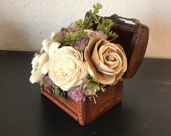 Awe Inspiring Chest Flowers Centerpiece Etsy Home Interior And Landscaping Ologienasavecom