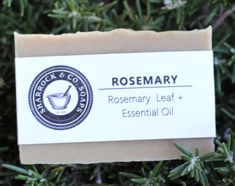 Rosemary Soap, Ground Rosemary Leaf and Rosemary Essential Oil