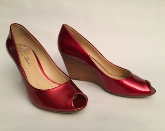 Clarks 80s leather shoes - size 5