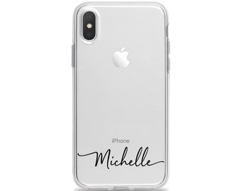 iphone 6s case etsycustom handwritten name clear phone case for iphone xs max xr x 10s 10r 10 8 plus 7 6s 6 se 5s 5 personalized soft rubber by case charming
