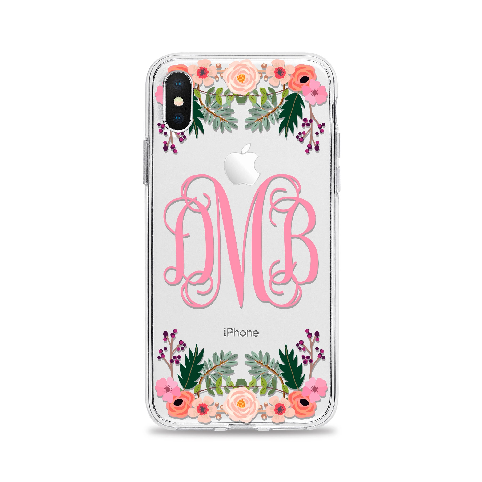 Clear Iphone Case Monogram For Xs X 8 Plus 7 6s 6 Se Samsung Galaxy S9 Samung S8 Shining Crystal S6