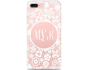 Monogram iPhone 8 Plus Case, iPhone 7 Plus Case, iPhone 6s Plus Case, iPhone 6 Case, iPhone SE Case, Samsung Galaxy S9 Plus, S8, S7 edge