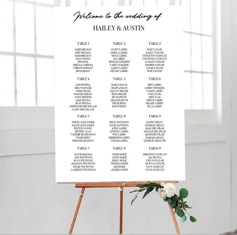 photo relating to Printable Seating Chart identified as Printable Seating Chart Poster, Marriage ceremony Seating Chart Indicator, Easy Minimalist Seating Chart, Function Seating Indicator